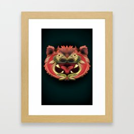 Bear Fish Framed Art Print