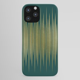 Linear Gold & Emerald iPhone Case