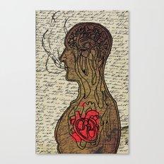 Heart Cooks Brain Canvas Print