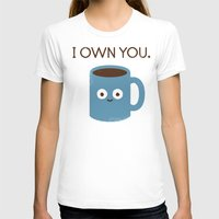 scary T-shirts featuring Coffee Talk by David Olenick