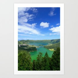 Lakes in Azores Art Print