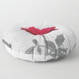 Red Rose Floor Pillow