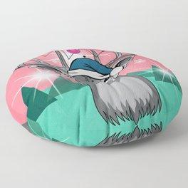 christmas deer Floor Pillow