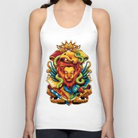 harry potter Tank Tops featuring Harry Potter : Hogwarts Houses by anggatantama