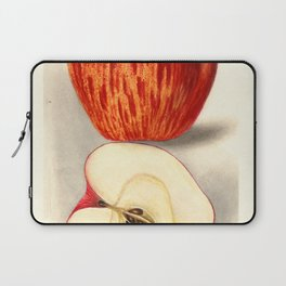 Vintage Illustration of a Sliced Apple Laptop Sleeve