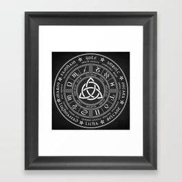 Triquetra Pagan Wheel Of The Year Framed Art Print