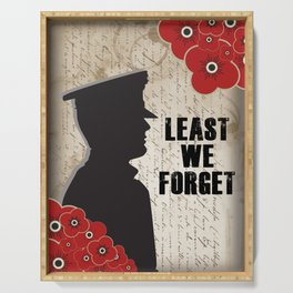 Least we forget Serving Tray