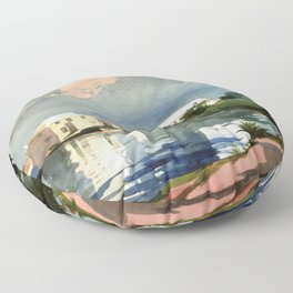 Salt Kettle Bermuda 1899 By WinslowHomer | Reproduction Floor Pillow