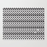 herringbone Canvas Prints featuring Herringbone by Erik Mace