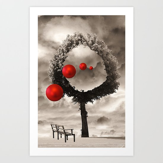 Bauble Entertainment Art Print