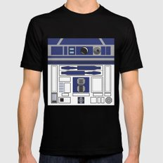 R2D2 - Starwars Mens Fitted Tee Black LARGE