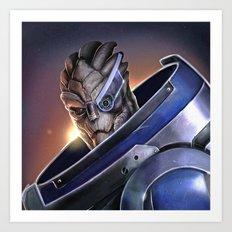 Garrus Vakarian Portrait - Mass Effect Art Print