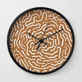 Organic Maze / Terracotta Wall Clock