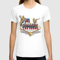 las vegas T-shirts featuring Las Vegas Welcome Sign by Gravityx9