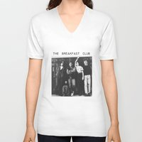 breakfast club V-neck T-shirts featuring The breakfast club by Mariana M