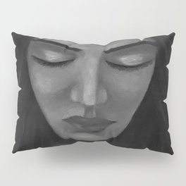 On My Mind by Lu, black-and-white Pillow Sham