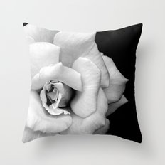 Rose Monochrome Throw Pillow