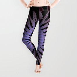 Deep Purple Flower Leggings