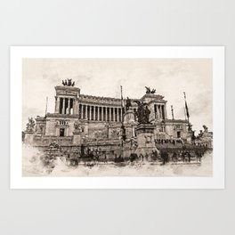 Altar of the Fatherland, Rome Art Print