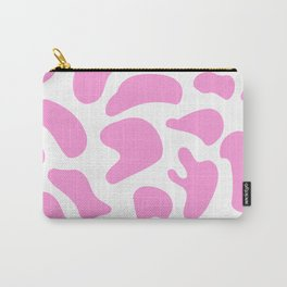 Girly Soft pink Cow Spots Pattern Carry-All Pouch