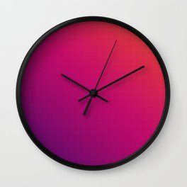 Mosaic Gadient Wall Clock