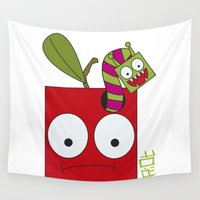apple Wall Tapestries featuring APPLE by Riot Clothing