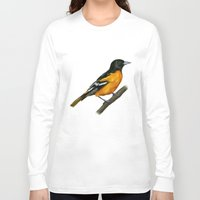 baltimore Long Sleeve T-shirts featuring Baltimore oriole  by Science Ink