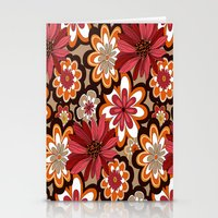 flower pattern Stationery Cards featuring Flower Pattern by Eduardo Doreni