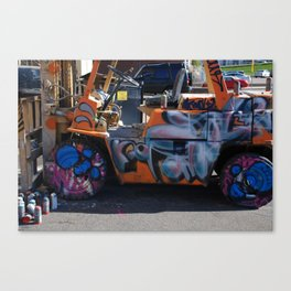 forklift graffiti  Canvas Print