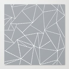 Abstract Dotted Lines Grey Canvas Print