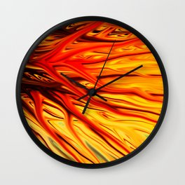 Orange Firethorn by Chris Sparks Wall Clock