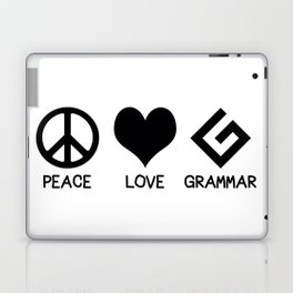 Peace, Love, and Grammar Laptop & iPad Skin