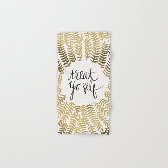 Treat Yo Self – Gold Hand & Bath Towel