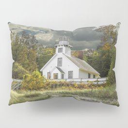 Old Mission Point Lighthouse in Early Autumn Pillow Sham