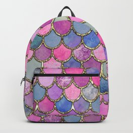 Colorful Pink Mermaid Scales Backpack