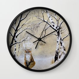 """What did the fox say?"" Wall Clock"
