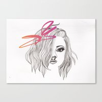 bow Canvas Prints featuring Bow by spllinter