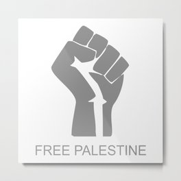Free Palestine Free Gaza Starlite Metal Print