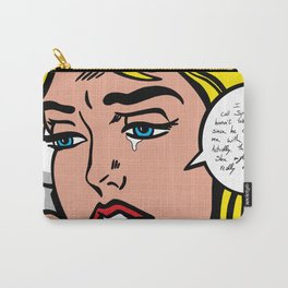 Girl on Phone Carry-All Pouch