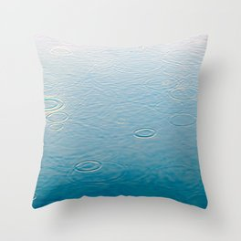 water-lightblue Throw Pillow