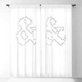 Ampersand pixel Blackout Curtain