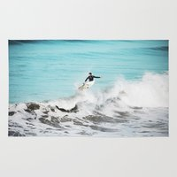 surfer Area & Throw Rugs featuring Surfer by Sherman Photography