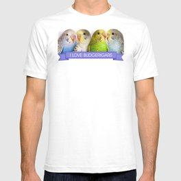 I Love Budgerigars Realistic Painting T-shirt