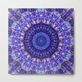 Indulgence of lavendery details in the lace mandala Metal Print