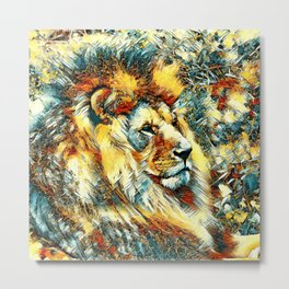 AnimalArt_Lion_20171001_by_JAMColorsSpecial Metal Print