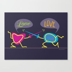 Love is a Battlefield Canvas Print