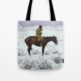 Frederic Remington - The Herd Boy, 1910 Tote Bag