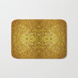 Deep gold glass mosaic Bath Mat