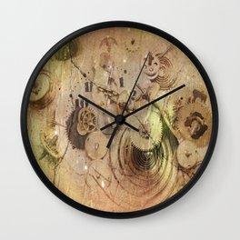 lost time - broken clockwork mechanism Wall Clock