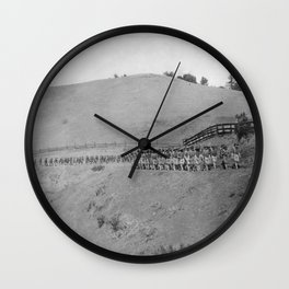 World War I Camp Fremont Solders in Palo Alto Wall Clock